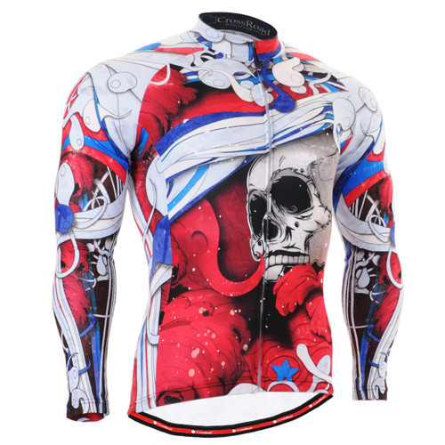 FIXGEAR CS-19R1 Men's Cycling Jersey long sleeve front view