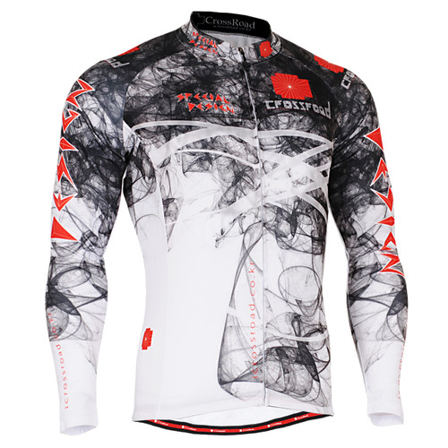 FIXGEAR CS-2101 Men's Cycling Jersey long sleeve front view