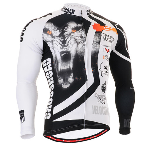 FIXGEAR CS-2201 Men's Cycling Jersey long sleeve front view