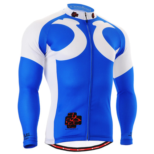 FIXGEAR CS-2601 Men's Cycling Jersey long sleeve front view