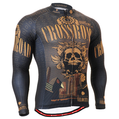 FIXGEAR CS-2701 Men's Cycling Jersey long sleeve front view