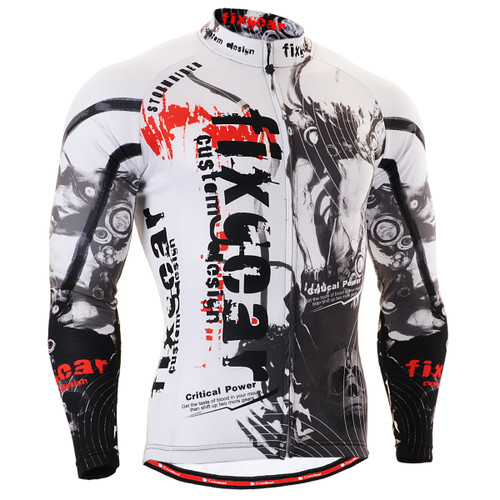FIXGEAR CS-3001 Men's Cycling Jersey long sleeve front view