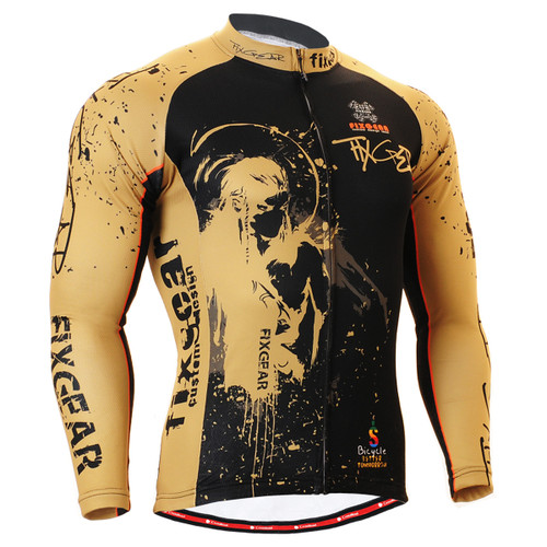 FIXGEAR CS-3201 Men's Cycling Jersey long sleeve front view