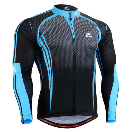 FIXGEAR CS-5601 Men's Cycling Jersey long sleeve front view