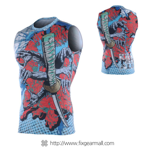 FIXGEAR CFN-H77 Compression Base Layer Sleeveless Shirts