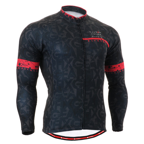 FIXGEAR CS-g601 Men's Cycling Jersey long sleeve front view