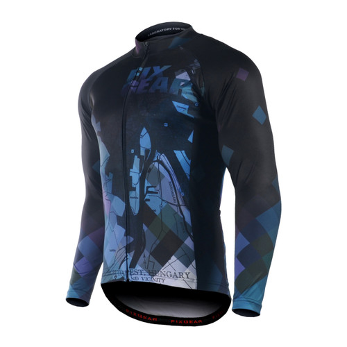 FIXGEAR CS-G1401 Men's Long Sleeve Road Cycling Jersey