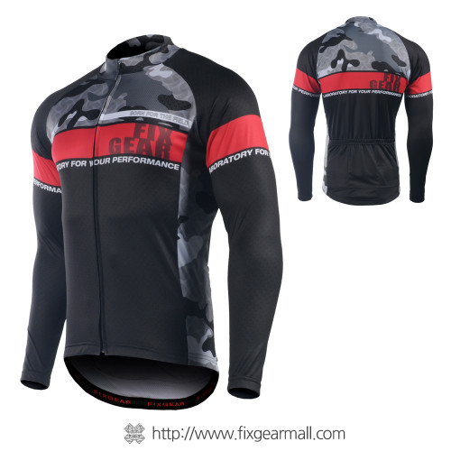 FIXGEAR CS-M501 Men's Long Sleeve Road Cycling Jersey