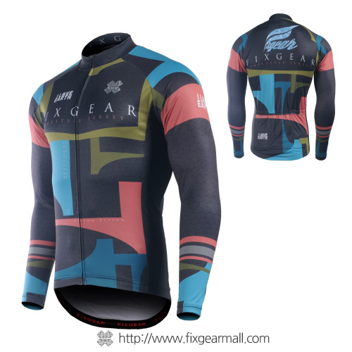 FIXGEAR CS-34K1 Men's Long Sleeve Road Cycling Jersey