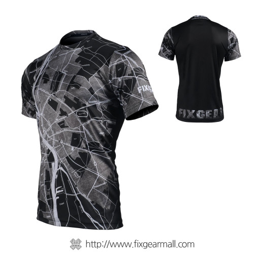 FIXGEAR RM-G15 Men's Casual short sleeve Crew-Neck T-shirt