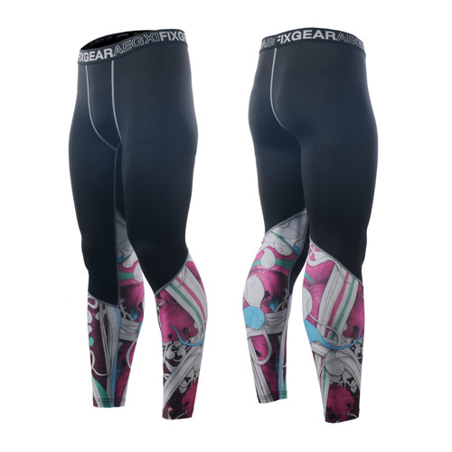 FIXGEAR FPL-19P Compression Base Layer Tights with Wide Waistband