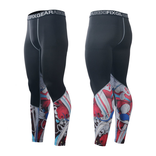FIXGEAR FPL-19R Compression Base Layer Tights with Wide Waistband