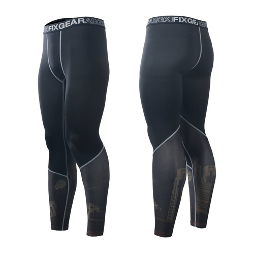 FIXGEAR FPL-27 Compression Base Layer Tights with Wide Waistband
