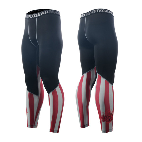 FIXGEAR FPL-37 Compression Base Layer Tights with Wide Waistband