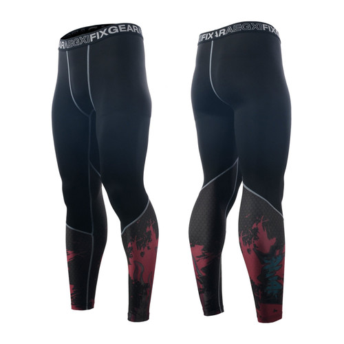 FIXGEAR FPL-H5P Compression Base Layer Tights with Wide Waistband