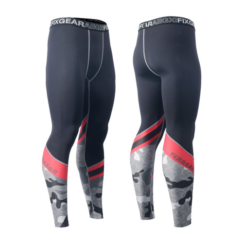FIXGEAR FPL-M5 Compression Base Layer Tights with Wide Waistband
