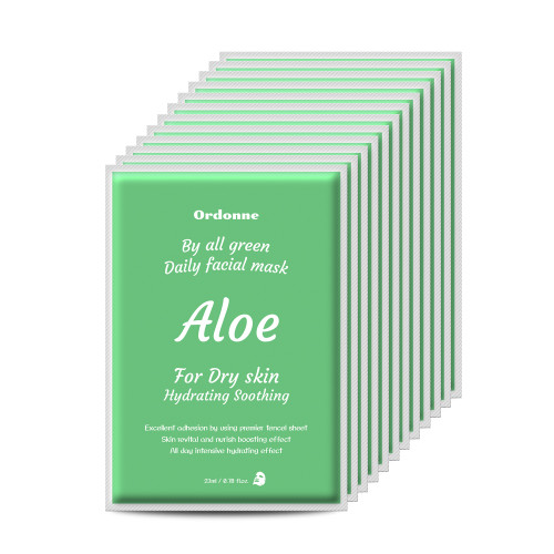 Ordonne By All Green Daily Facial TENCEL Sheet Mask 12EA (Aloe mask sheet)
