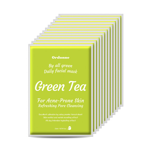Ordonne By All Green Daily Facial TENCEL Sheet Mask 12EA - Green Tea