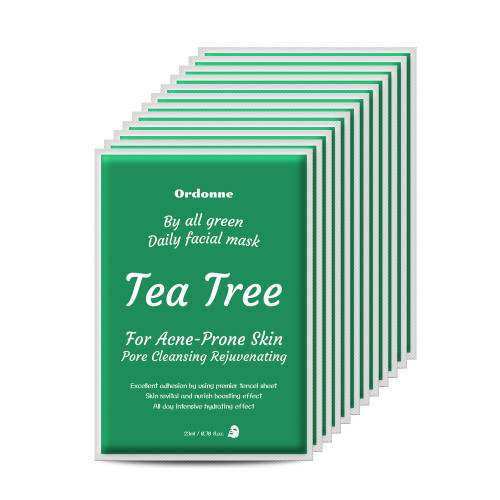 Ordonne By All Green Daily Facial TENCEL Sheet Mask 12EA - Tea Tree