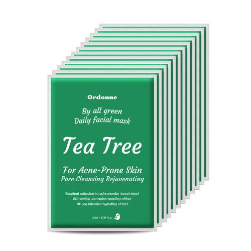 Ordonne By All Green Daily Facial TENCEL Sheet Mask 12EA - Tea Tree