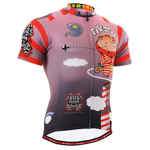 FIXGEAR CS-1602 Men's Cycling Jersey Short Sleeve Front