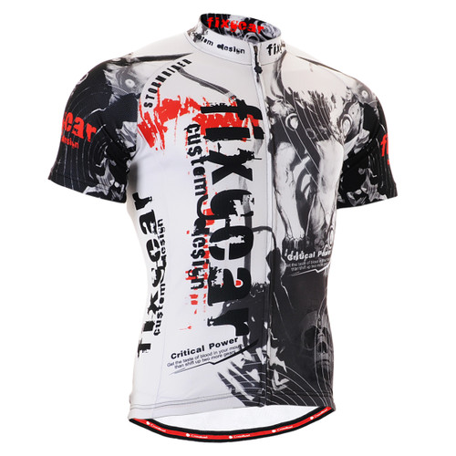 FIXGEAR CS-3002 Men's Cycling Jersey Short Sleeve Front