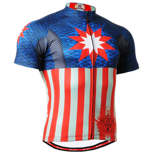 FIXGEAR CS-3702 Men's Cycling Jersey Short Sleeve Front