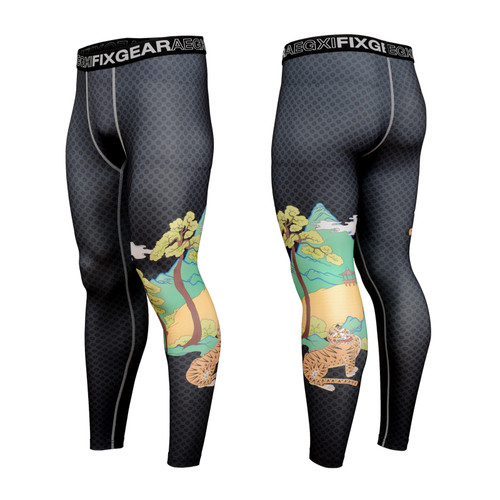 FIXGEAR FPL-S15 Compression Base Layer Tights with Wide Waistband