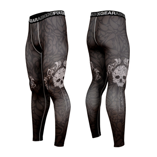 FIXGEAR FPL-S19B Compression Base Layer Tights with Wide Waistband