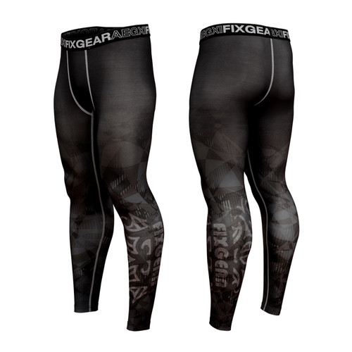 FIXGEAR FPL-S22 Compression Base Layer Tights with Wide Waistband