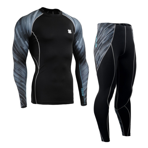 FIXGEAR CPD/P2L-B67 Compression Long Sleeve Shirts/Pants Set