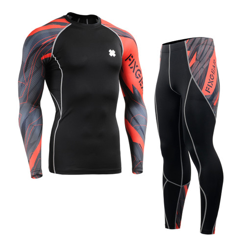 FIXGEAR CPD/P2L-B68 Compression Long Sleeve Shirts/Pants Set