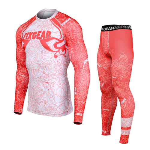 FIXGEAR CFL/FPL-S18R Compression Shirt and Tights Set