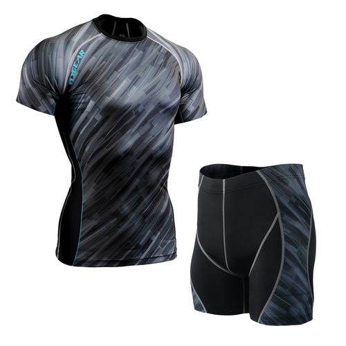 FIXGEAR CFS/P2S-B67 Compression Base Layer Short Sleeve Shirt/drawers Set