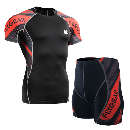FIXGEAR C2S/P2S-B68 Compression Short Sleeve Shirt/Shorts Set