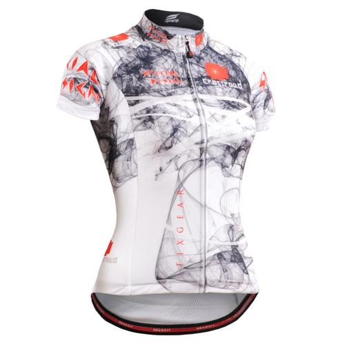 FIXGEAR CS-W2102 Women's Short Sleeve Cycling Jersey front view
