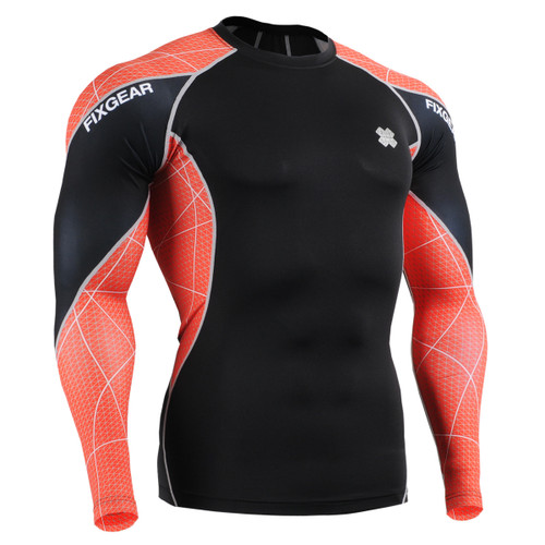 FIXGEAR C3L-B70R Compression Base Layer Shirts front view