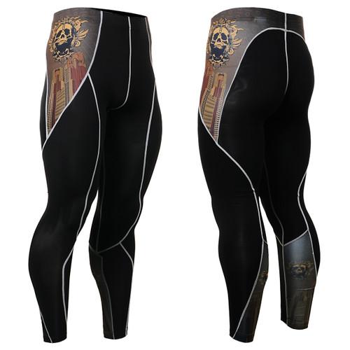 FIXGEAR P2L-B27 Compression Leggings Pants front view