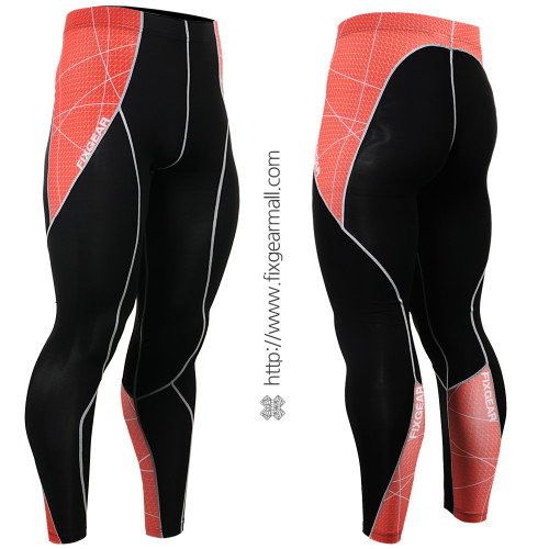FIXGEAR P2L-B70R Compression Leggings Pants