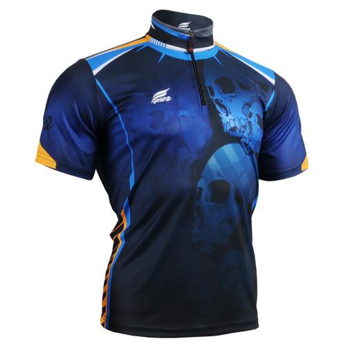 FIXGEAR BM-5302 Men's Casual short sleeve jersey 1/4 zip-up T-shirt Front