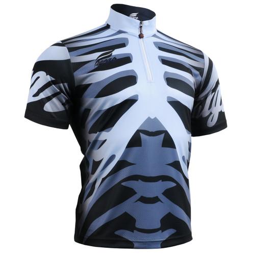 FIXGEAR BM-5502 Casual Mens short sleeve jersey 1/4 zip-up T-shirt Front