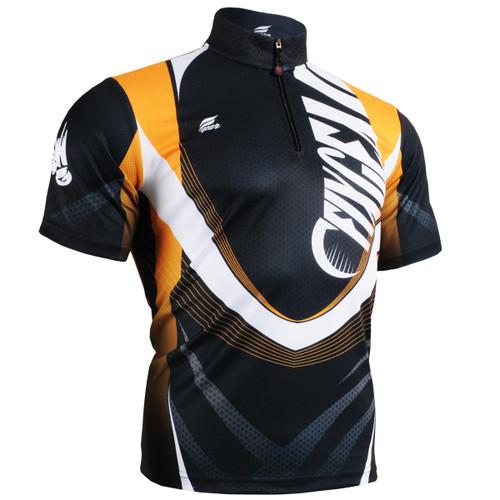 FIXGEAR BM-5802 Casual Mens short sleeve jersey 1/4 zip-up T-shirt Front