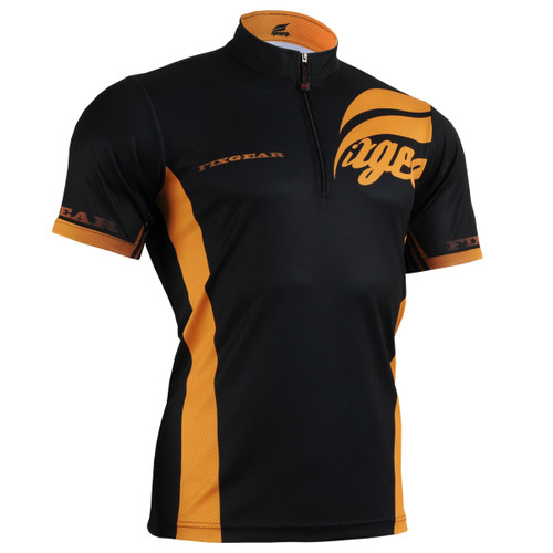 FIXGEAR BM-6002 Casual Mens short sleeve jersey 1/4 zip-up T-shirt Front