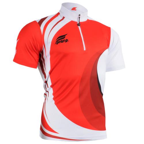 FIXGEAR BM-6202 Casual Mens short sleeve jersey 1/4 zip-up T-shirt front