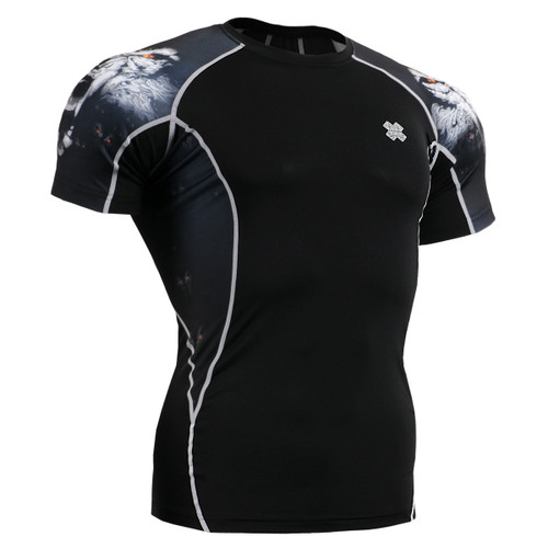 FIXGEAR C2S-B18 Compression Shirts Base Layer Short Sleeve Front