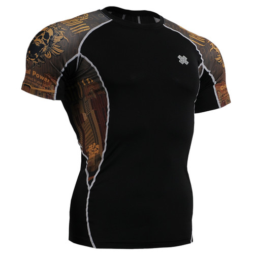FIXGEAR C2S-B27 Compression Shirts Base Layer Short Sleeve front view