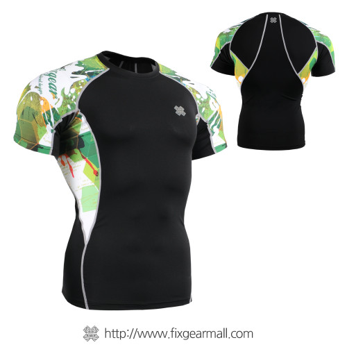 FIXGEAR C2S-B47 Compression Shirts Base Layer Short Sleeve