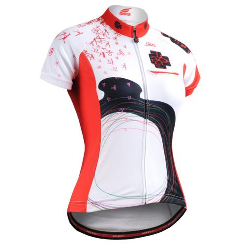 FIXGEAR CS-W2502 Women's Short Sleeve Cycling Jersey front view