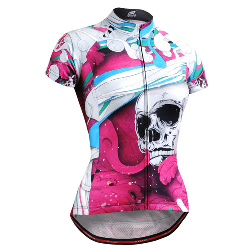 FIXGEAR CS-W19P2 Women's Short Sleeve Cycling Jersey front view