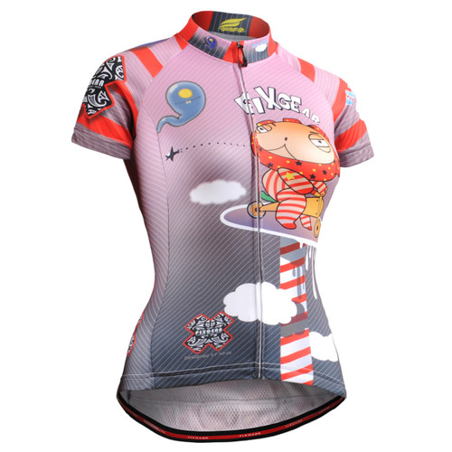 FIXGEAR CS-W1602 Women's Short Sleeve Cycling Jersey front view